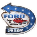 Ford Service Light Up Sign