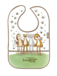 Diinglisar Bib with Pouch - Wild