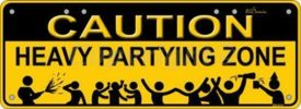 Novelty Plate - Caution Heavy Partying