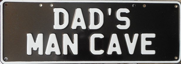 Novelty Plate - Dad's Man Cave