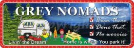 Novelty Plate - Grey Nomads