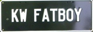 Novelty Plate - KW Fatboy