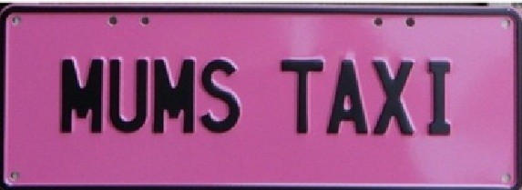 Novelty Plate - Mums Taxi