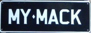 Novelty Plate - My Mack
