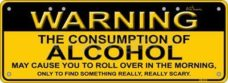 Novelty Plate - Warning Alcohol
