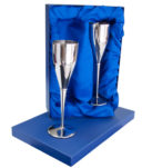 Stainless Steel Champagne Flutes (Pair)
