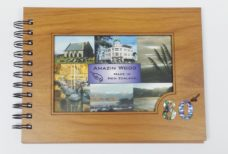 Wooden 80th Guestbook Photo Frame
