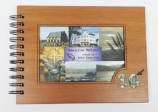 Wooden 30th Guestbook Photo Frame