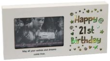 LED Photo Frame Happy 21st