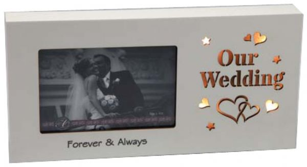 LED Photo Frame Our Wedding