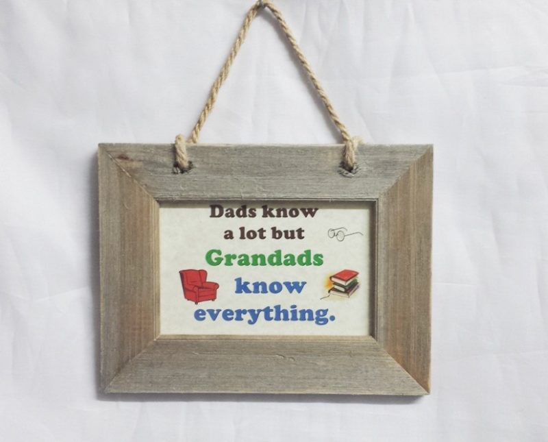 Wooden Frame Grandads Know