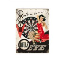 Metal Wall Plaque: Bullseye