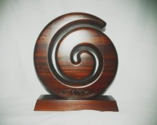 Carved Koru on Base