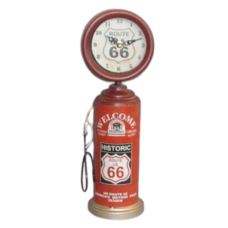 Route 66 Clock (Red)