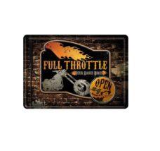 Metal Wall Plaque: Full Throttle