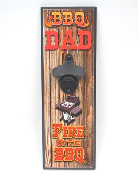 Wall Mounted Bottle Opener (BBQ Dad)