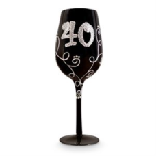 40 Black Diamante Vine Glass