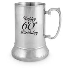 Stainless Steel Tankard 60th Birthday (18oz)