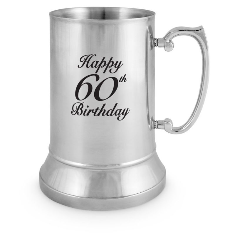 Stainless Steel Tankard 60th Birthday (18oz)