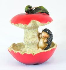 Bird Feeder: Hedgehog with Apple