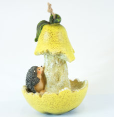 Bird Feeder: Hedgehog with Pear
