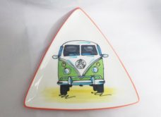Ceramic Plate - Green VW Combi Van (Splashy, NZ)