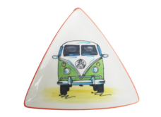 Splashy NZ Hand-Painted Ceramic Plate VW Combi Van