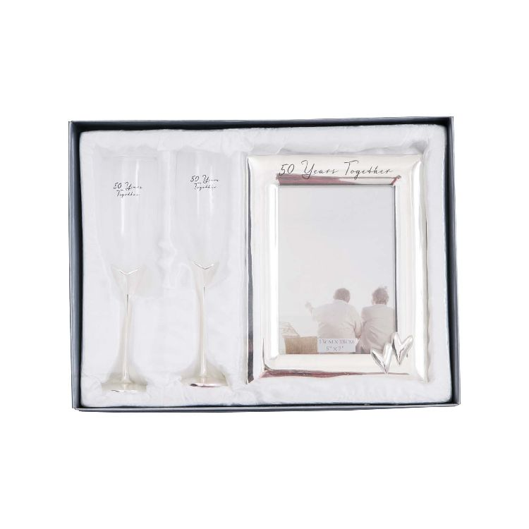 50th Anniversary Photo Frame & Glasses (Gift Set)