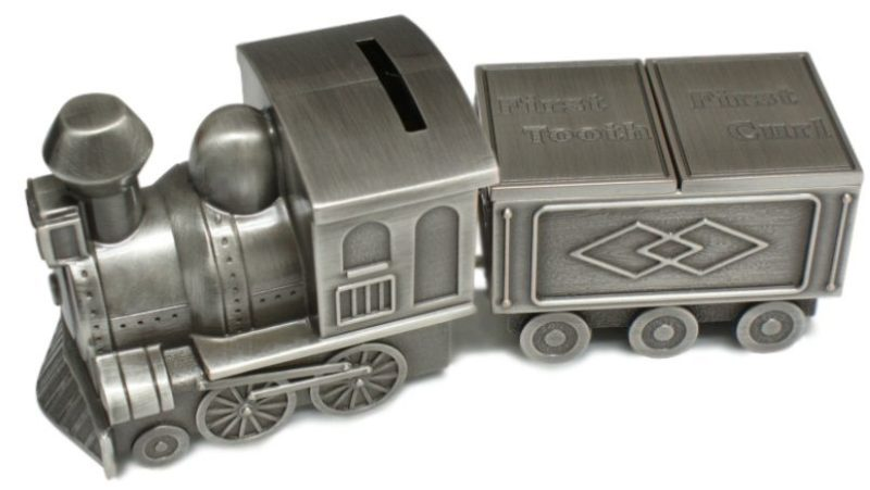 Money Box: Train with First Tooth & Curl Carriage