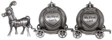 My First Tooth & Curl Horse Carriage Set (Pewter)