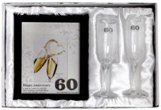 60th Anniversary Photo Frame & Glasses (Gift Set)