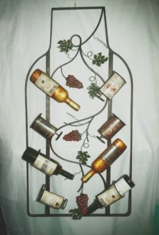 Wall Mounted 6 Bottle Wine Rack