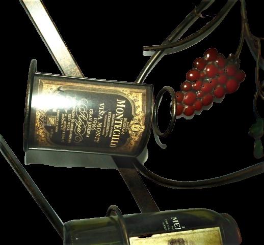 Wall Mounted 6 Bottle Wine Rack