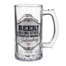 Gentlemen's Quarters Glass Mug: Beer! Making Other People More Interesting