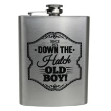 Gentlemen's Quarters Hip Flask: Down The Hatch Old Boy!