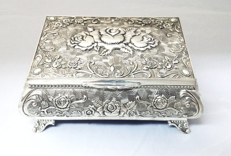 Jewellery Box Queen Anne - Small (Silver Plated)