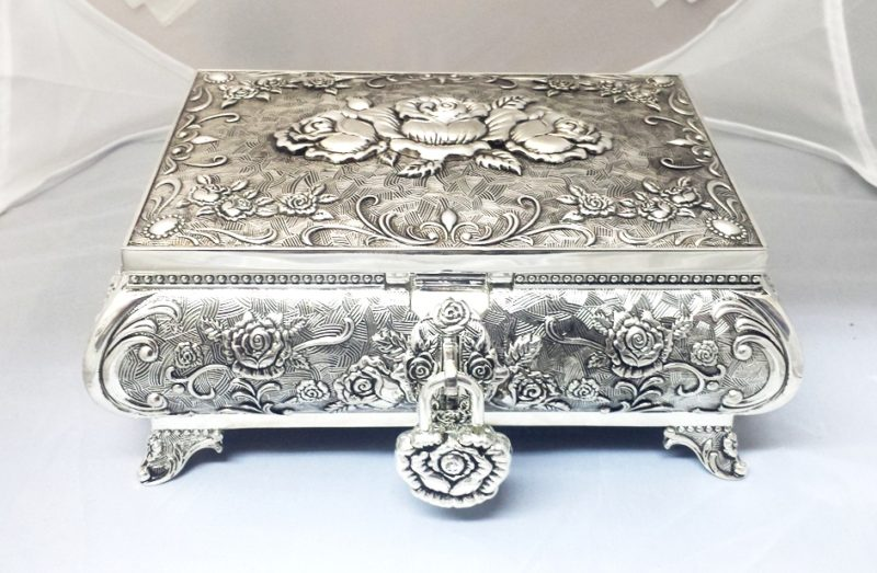 Jewellery Box Queen Anne - Medium (Silver Plated)