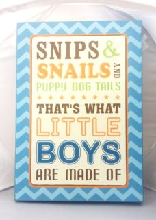 """Snips & Snails and Puppy Dog Tails"" Wall Plaque"