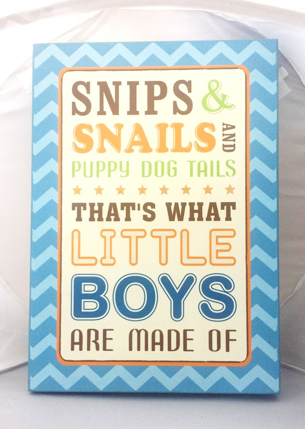 """""""Snips & Snails and Puppy Dog Tails"""" Wall Plaque"""