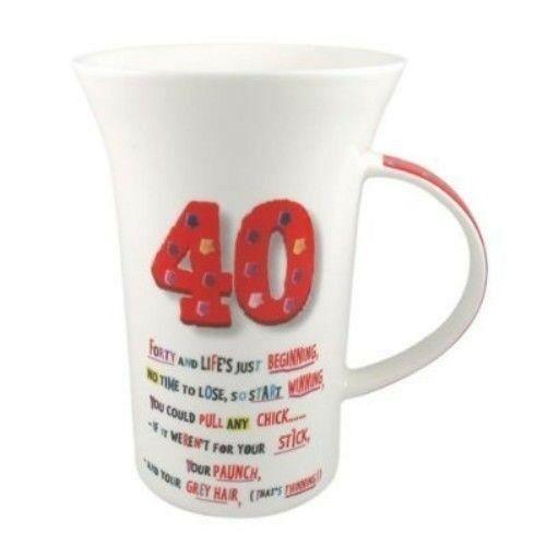 '40' Birthday Coffee Mug with Biscuit Tin