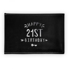 Happy 21st Birthday Guest Book (Black)