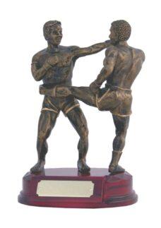 Resin Trophy: Kick Boxing Duo