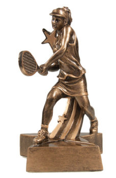 Resin Trophy: Super Star Tennis (Female)