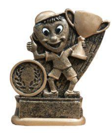 Resin Trophy: Happy Kid & Cup