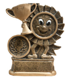 Resin Trophy: Happy Rosette & Cup