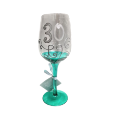 30 Green Vine Wine Glass