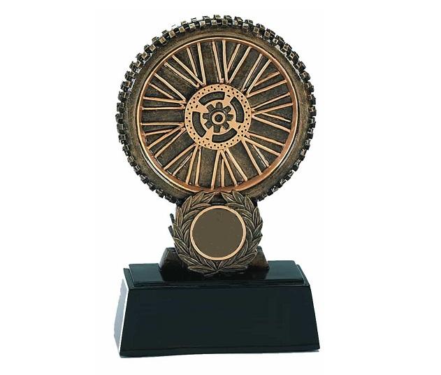 Resin Trophy: Motorcycle Wheel