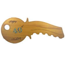 Happy 40th Birthday Key (Rimu – Curved)