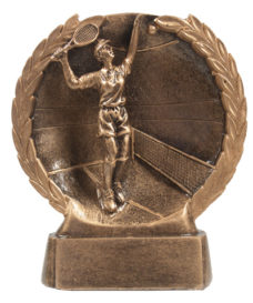 Resin Trophy: Tennis Match (Female)
