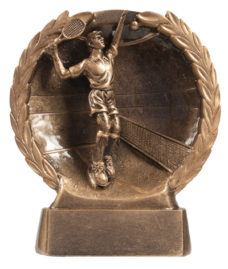 Resin Trophy: Tennis Match (Male)